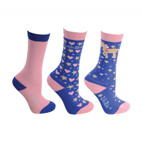 Little Rider Star In Show Socks size 8-12 (Triple Pack)